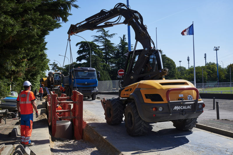 Chantier assainissement - France Travaux